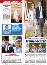 Titelbild der Ausgabe 9/2020 von Fergies Tochter BEATRICE: Traumhochzeit im Mai. Zeitschriften als Abo oder epaper bei United Kiosk online kaufen.