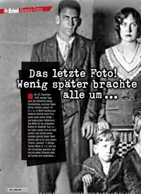 Titelbild der Ausgabe 7/2020 von Krimi Beweis-Fotos: Das letzte Foto! Wenig später brachte der Vater alle um …. Zeitschriften als Abo oder epaper bei United Kiosk online kaufen.