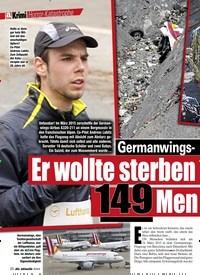 Titelbild der Ausgabe 7/2020 von Horror-KatastropheGermanwings-Flug 9525 Er wollte sterben – und riss eiskalt 149 Men schen in den Tod!. Zeitschriften als Abo oder epaper bei United Kiosk online kaufen.