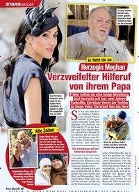 Titelbild der Ausgabe 7/2020 von Er fleht sie an:Herzogin Meghan:Verzweifelter Hilferuf von ihrem Papa. Zeitschriften als Abo oder epaper bei United Kiosk online kaufen.
