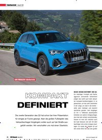 Titelbild der Ausgabe 6/2018 von Fahrbericht Audi Q3: SUV MAGAZIN Fahrbericht: KOMPAKT DEFINIERT. Zeitschriften als Abo oder epaper bei United Kiosk online kaufen.