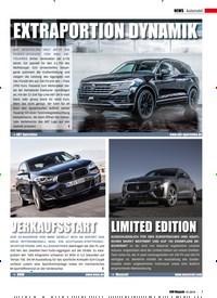 Titelbild der Ausgabe 1/2019 von Automobil: EXTRAPORTION DYNAMIK. Zeitschriften als Abo oder epaper bei United Kiosk online kaufen.
