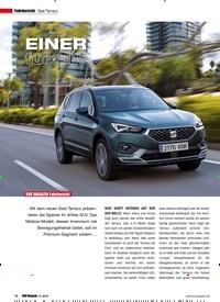 Titelbild der Ausgabe 1/2019 von Fahrbericht Seat Tarraco: EINER für alle. Zeitschriften als Abo oder epaper bei United Kiosk online kaufen.