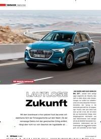 Titelbild der Ausgabe 1/2019 von Fahrbericht Audi e-tron: LAUTLOSE Zukunft. Zeitschriften als Abo oder epaper bei United Kiosk online kaufen.