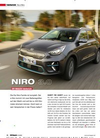 Titelbild der Ausgabe 1/2019 von Fahrbericht Kia e-Niro: NIRO 3.0. Zeitschriften als Abo oder epaper bei United Kiosk online kaufen.