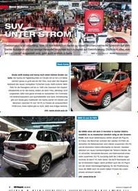 Titelbild der Ausgabe 2/2019 von Auto Salon Genf: SUV UNTER STROM. Zeitschriften als Abo oder epaper bei United Kiosk online kaufen.