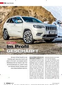 Titelbild der Ausgabe 2/2019 von Test: Jeep Cherokee: SUV MAGAZIN Test: Im Profil GESCHÄRFT. Zeitschriften als Abo oder epaper bei United Kiosk online kaufen.