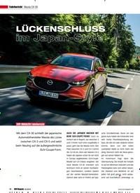 Titelbild der Ausgabe 4/2019 von Fahrbericht Mazda CX-30: LÜCKENSCHLUSS im Japan-Style. Zeitschriften als Abo oder epaper bei United Kiosk online kaufen.