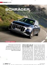 Titelbild der Ausgabe 4/2019 von Fahrbericht Audi SQ8: SCHRÄGER Dynamik-Brocken. Zeitschriften als Abo oder epaper bei United Kiosk online kaufen.