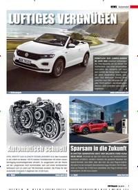 Titelbild der Ausgabe 5/2019 von Automobil: Sparsam in die Zukunft. Zeitschriften als Abo oder epaper bei United Kiosk online kaufen.