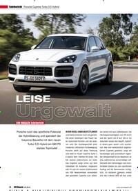 Titelbild der Ausgabe 5/2019 von Porsche Cayenne Turbo S E-Hybrid: SUV MAGAZIN Fahrbericht: LEISE Urgewalt. Zeitschriften als Abo oder epaper bei United Kiosk online kaufen.