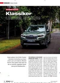 Titelbild der Ausgabe 5/2019 von Subaru Forester: SUV MAGAZIN Fahrbericht: Klassiker UNTER STROM. Zeitschriften als Abo oder epaper bei United Kiosk online kaufen.