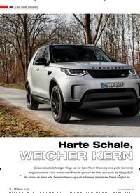 Titelbild der Ausgabe 2/2020 von Land Rover Discovery: Harte Schale, WEICHER KERN. Zeitschriften als Abo oder epaper bei United Kiosk online kaufen.