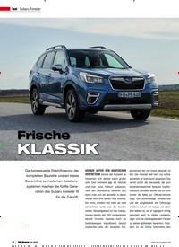 Titelbild der Ausgabe 4/2020 von Subaru Forester: Frische KLASSIK. Zeitschriften als Abo oder epaper bei United Kiosk online kaufen.