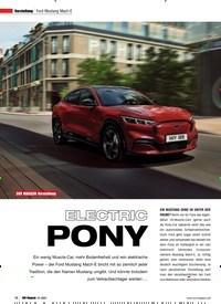 Titelbild der Ausgabe 1/2021 von Ford Mustang Mach-E: ELECTRIC PONY. Zeitschriften als Abo oder epaper bei United Kiosk online kaufen.