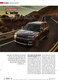 Titelbild der Ausgabe 1/2021 von Jeep Grand Cherokee: L wie LUXURIÖS. Zeitschriften als Abo oder epaper bei United Kiosk online kaufen.