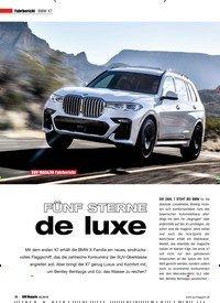Titelbild der Ausgabe 2/2019 von Fahrbericht: BMW X7: SUV MAGAZIN Fahrbericht: FÜNF STERNE de luxe. Zeitschriften als Abo oder epaper bei United Kiosk online kaufen.