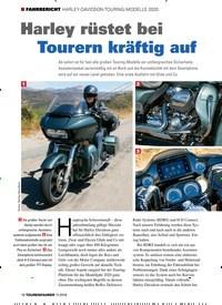 Titelbild der Ausgabe 11/2019 von FAHRBERICHT HARLEY-DAVIDSON-TOURING-MODELLE 2020: Harley rüstet bei Tourern kräftig auf. Zeitschriften als Abo oder epaper bei United Kiosk online kaufen.