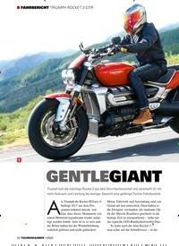 Titelbild der Ausgabe 1/2020 von FAHRBERICHT TRIUMPH ROCKET 3 GT/R: GENTLEGIANT. Zeitschriften als Abo oder epaper bei United Kiosk online kaufen.