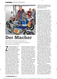 Titelbild der Ausgabe 4/2020 von NACHRUF FRITZ RÖTH: Der Macher. Zeitschriften als Abo oder epaper bei United Kiosk online kaufen.