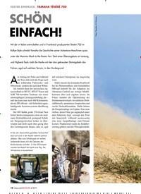 Titelbild der Ausgabe 4/2019 von ERSTER EINDRUCK: YAMAHA TÉNÉRÉ 700: SCHÖN EINFACH!. Zeitschriften als Abo oder epaper bei United Kiosk online kaufen.