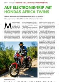 Titelbild der Ausgabe 6/2019 von AUF ELEKTRONIK-TRIP MIT HONDAS AFRICA TWINS. Zeitschriften als Abo oder epaper bei United Kiosk online kaufen.