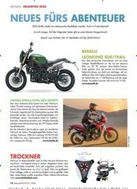 Titelbild der Ausgabe 1/2020 von AKTUELL NEUHEITEN 2020: NEUES FÜRS ABENTEUER. Zeitschriften als Abo oder epaper bei United Kiosk online kaufen.