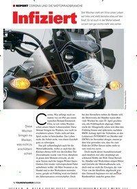 Titelbild der Ausgabe 6/2020 von CORONA UND DIE MOTORRADBRANCHE: Infiziert. Zeitschriften als Abo oder epaper bei United Kiosk online kaufen.