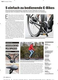 Titelbild der Ausgabe 1/2019 von 5 einfach zu bedienende E-Bikes. Zeitschriften als Abo oder epaper bei United Kiosk online kaufen.