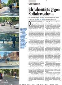 Titelbild der Ausgabe 11/2019 von MEINUNG: Ich habe nichts gegen Radfahrer, aber …. Zeitschriften als Abo oder epaper bei United Kiosk online kaufen.