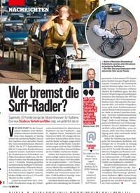 Titelbild der Ausgabe 13/2019 von Wer bremst die Suff-Radler?. Zeitschriften als Abo oder epaper bei United Kiosk online kaufen.