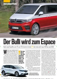 Titelbild der Ausgabe 13/2019 von Der Bulli wird zum EspacDer Bulli wird zum Espace. Zeitschriften als Abo oder epaper bei United Kiosk online kaufen.