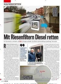 Titelbild der Ausgabe 15/2019 von Mit Riesenfiltern Diesel retten. Zeitschriften als Abo oder epaper bei United Kiosk online kaufen.