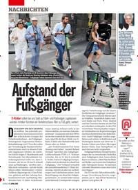 Titelbild der Ausgabe 15/2019 von Aufstand der Fußgänger. Zeitschriften als Abo oder epaper bei United Kiosk online kaufen.