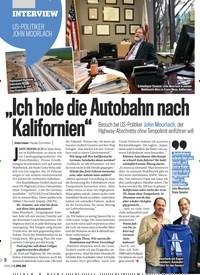 """Titelbild der Ausgabe 15/2019 von INTERVIEW: US-POLITIKER JOHN MOORLACH: """"Ich hole die Autobahn nach Kalifornien"""". Zeitschriften als Abo oder epaper bei United Kiosk online kaufen."""