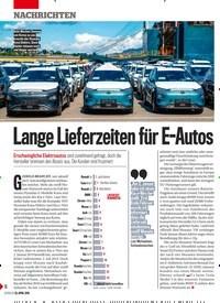 Titelbild der Ausgabe 17/2019 von Lange Lieferzeiten für E-Autos. Zeitschriften als Abo oder epaper bei United Kiosk online kaufen.