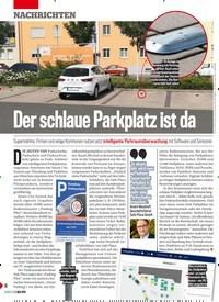 Titelbild der Ausgabe 18/2019 von Der schlaue Parkplatz ist da. Zeitschriften als Abo oder epaper bei United Kiosk online kaufen.