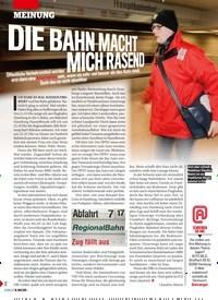 Titelbild der Ausgabe 20/2019 von MEINUNG:DIE BAHN MACHT MICH RASEND. Zeitschriften als Abo oder epaper bei United Kiosk online kaufen.