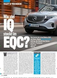 Titelbild der Ausgabe 20/2019 von Wie viel IQ steckt im EQC?. Zeitschriften als Abo oder epaper bei United Kiosk online kaufen.