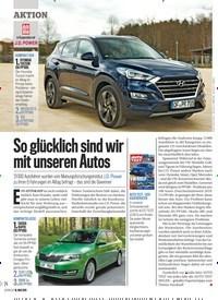 Titelbild der Ausgabe 20/2019 von AKTION: So glücklich sind wir mit unseren Autos. Zeitschriften als Abo oder epaper bei United Kiosk online kaufen.
