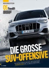 Titelbild der Ausgabe 22/2019 von DIE GROSSE SUV-OFFENSIVE. Zeitschriften als Abo oder epaper bei United Kiosk online kaufen.