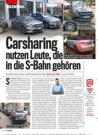 Titelbild der Ausgabe 22/2019 von MEINUNG: Carsharin nutzen Leute, die in die S-Bahn gehören. Zeitschriften als Abo oder epaper bei United Kiosk online kaufen.
