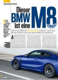 Titelbild der Ausgabe 23/2019 von Dieser BMW ist eine M 8 acht. Zeitschriften als Abo oder epaper bei United Kiosk online kaufen.