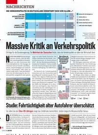 Titelbild der Ausgabe 23/2019 von Massive Kritik an Verkehrspolitik. Zeitschriften als Abo oder epaper bei United Kiosk online kaufen.