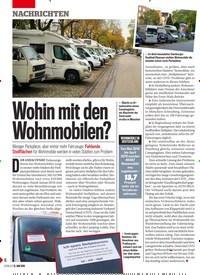 Titelbild der Ausgabe 24/2019 von Wohin mit den Wohnmobilen?. Zeitschriften als Abo oder epaper bei United Kiosk online kaufen.
