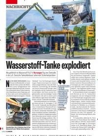 Titelbild der Ausgabe 25/2019 von Wasserstoff-Tanke explodiert. Zeitschriften als Abo oder epaper bei United Kiosk online kaufen.