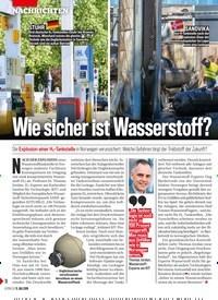 Titelbild der Ausgabe 28/2019 von Wie sicher ist Wasserstoff?. Zeitschriften als Abo oder epaper bei United Kiosk online kaufen.