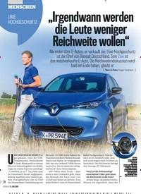 """Titelbild der Ausgabe 28/2019 von UWE HOCHGESCHURTZ""""Irgendwann werden die Leute weniger Reichweite wollen"""". Zeitschriften als Abo oder epaper bei United Kiosk online kaufen."""