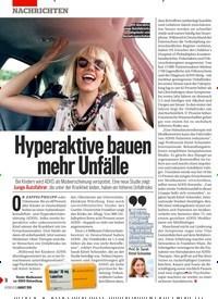 Titelbild der Ausgabe 31/2019 von Hyperaktive bauen mehr Unfälle. Zeitschriften als Abo oder epaper bei United Kiosk online kaufen.
