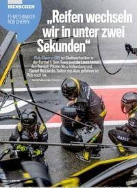 """Titelbild der Ausgabe 32/2019 von MENSCHEN: F1-MECHANIKER ROB CHERRY: """"Reifen wechseln wir in unter zwei Sekunden"""". Zeitschriften als Abo oder epaper bei United Kiosk online kaufen."""